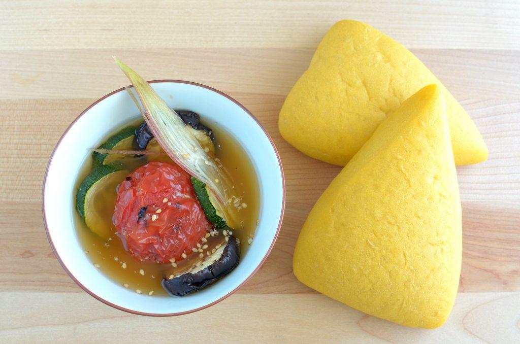 【一汁一ぱんのすすめ】夏野菜とゴマの味噌汁