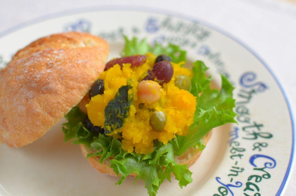 【ぱんのおかず】かぼちゃの塩煮サラダ