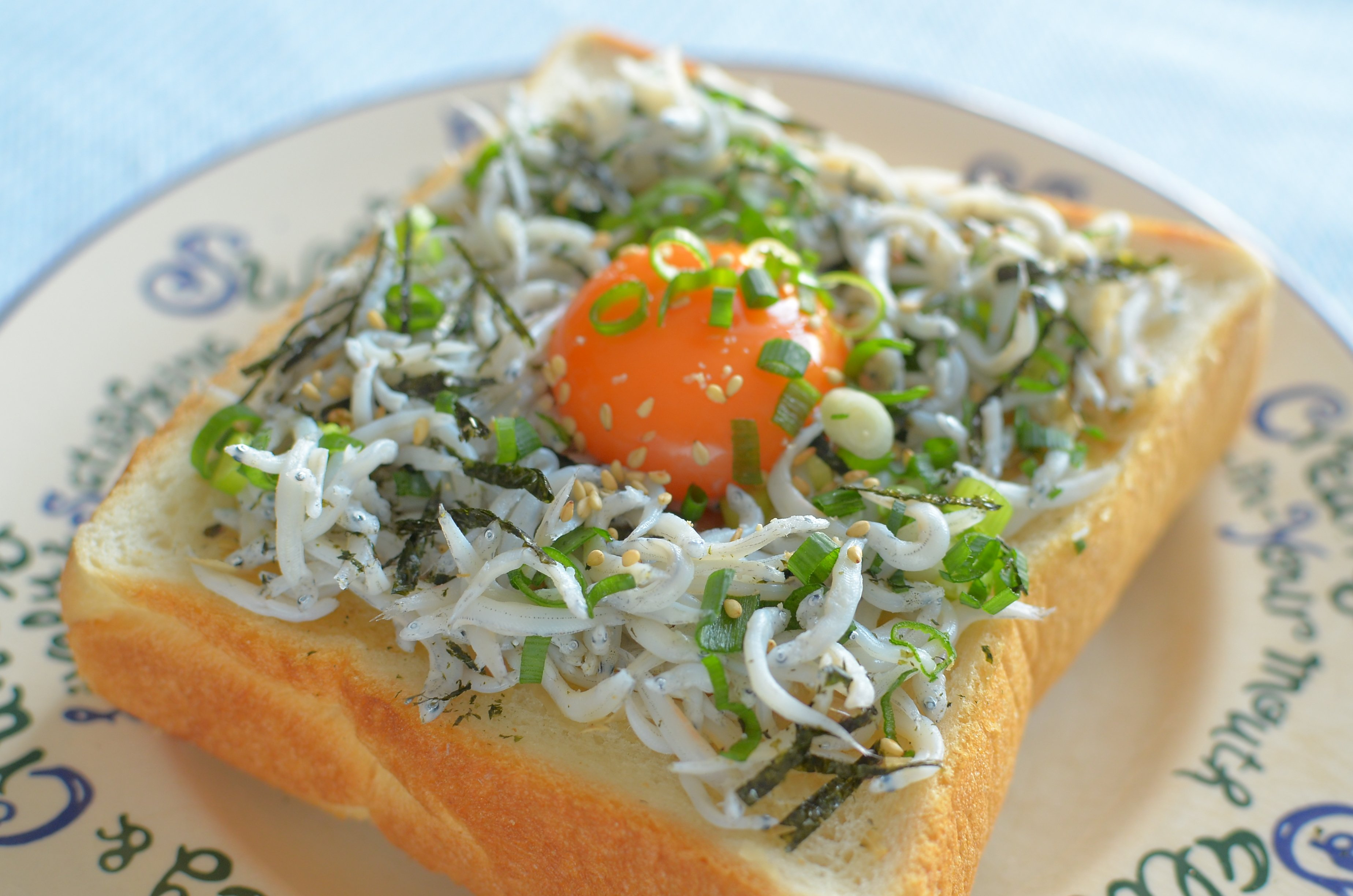 【ぱんのおかず】しらす丼トースト