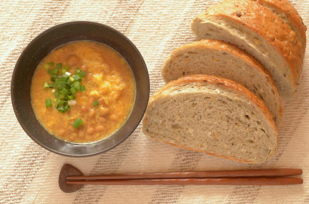 【一汁一ぱんのすすめ】納豆かき玉味噌汁