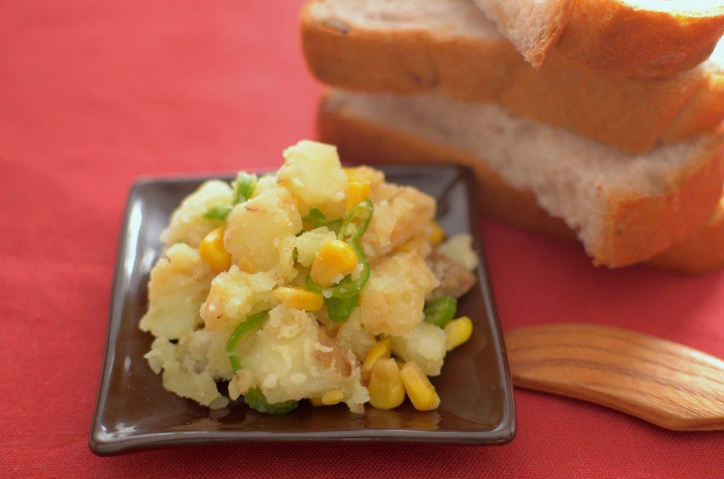 【ぱんのおかず】味噌煮じゃがいものサラダ