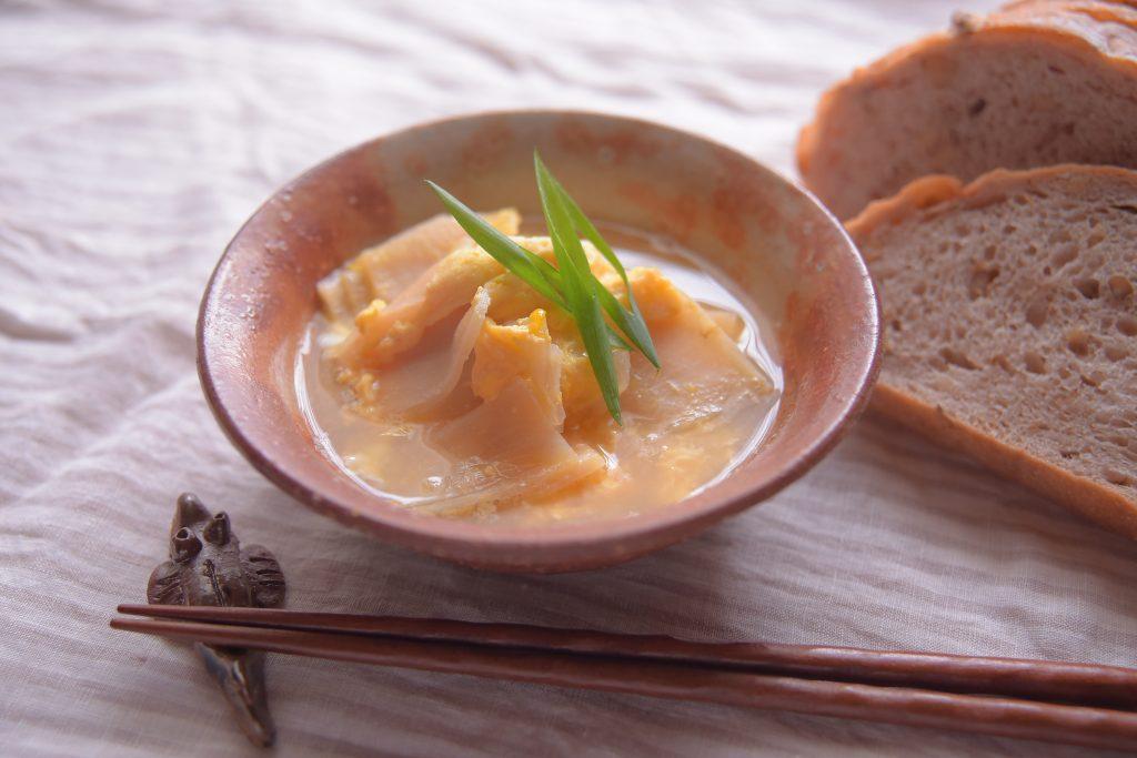 【ぱんと郷土料理と】かんぴょうの卵とじ